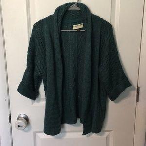 Sonoma green open cardigan